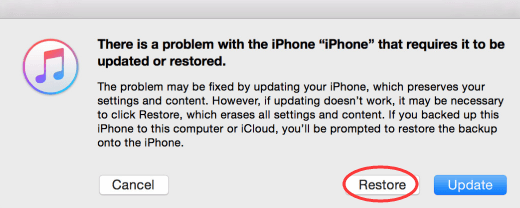 restore iPhone with Cloud