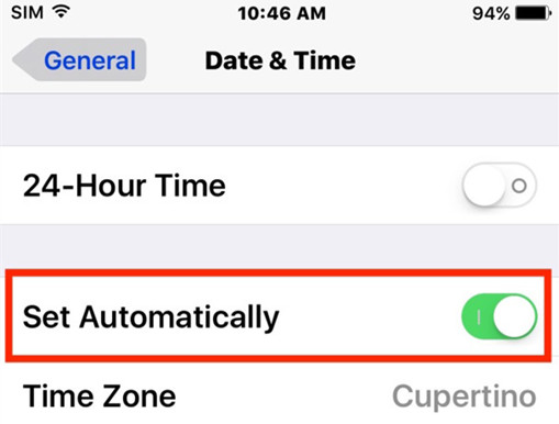 settings date and time