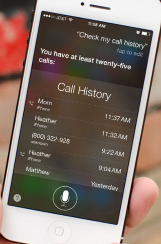 siri check call history on iphone