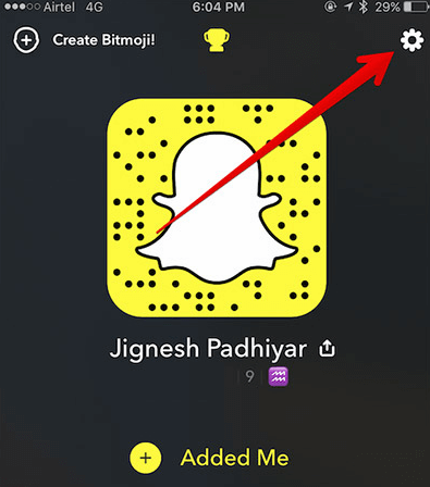 snapchat-settings