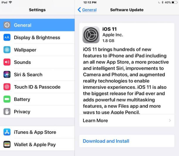 Update iOS System and Apps