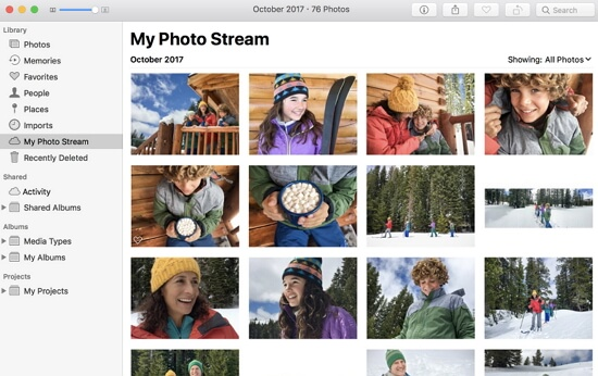 view-my-photo-stream-mac