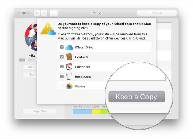 turn off icloud mac
