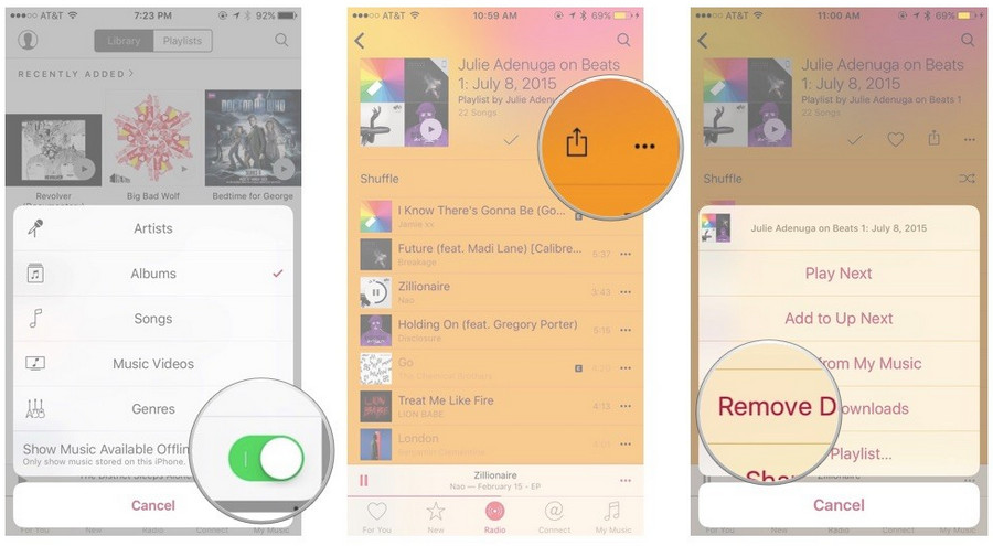 apple music delete icloud music songs remove download