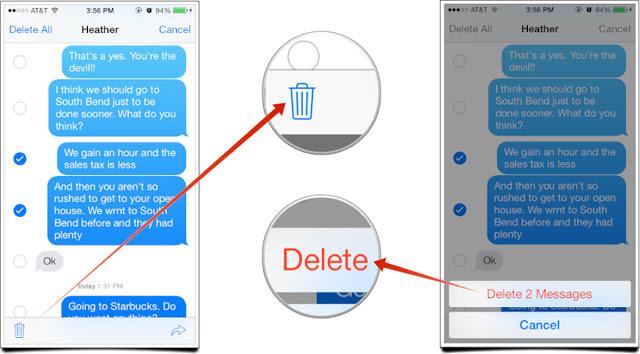 delete iphone messages