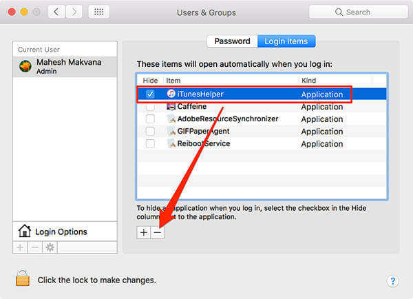 Disable iTunesHelper mac