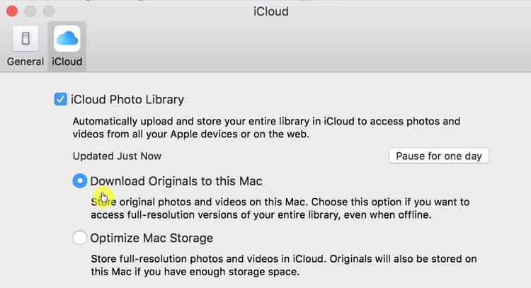 download originals to this mac