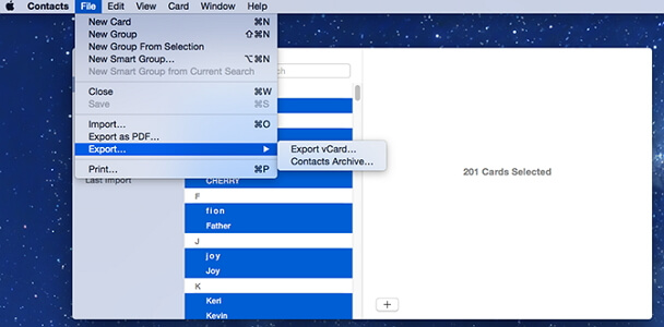export-contacts-as-vcard-mac