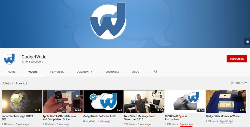 GadgetWide YouTube