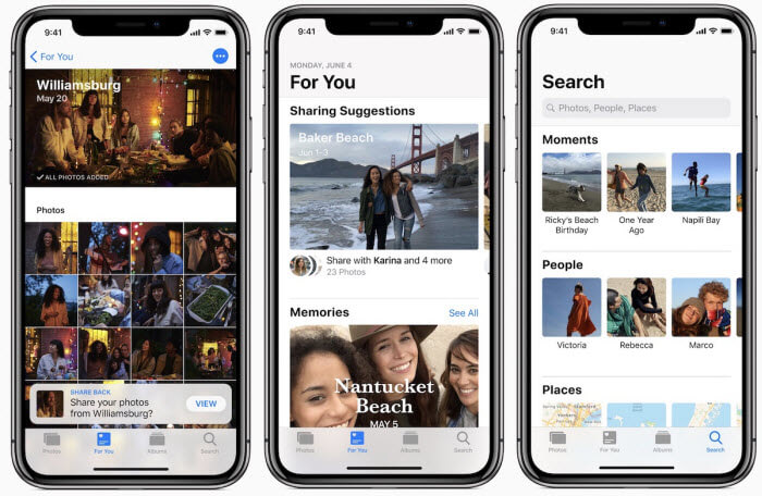 iOS 12 Make Photo Sharing Easier