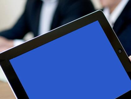 iPad blue screen