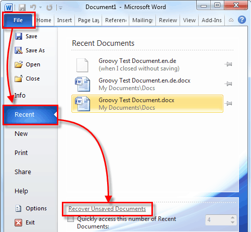 How to Recover a Deleted Word Document