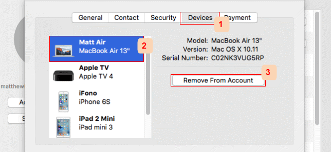 Remove Device from iCloud