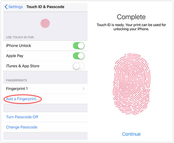 Add a Fingerprint