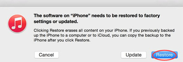 restore locked iPhone screenshot