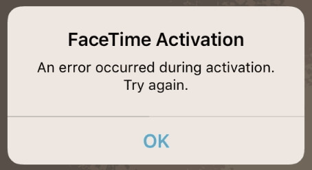 facetime error on ios 13