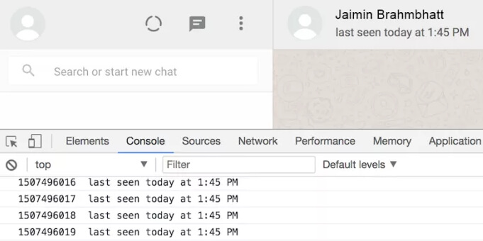 hack whatsapp via writing javascript code
