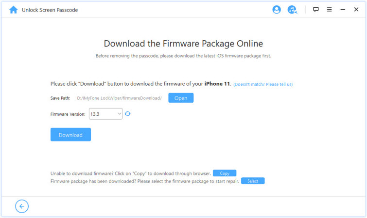 imyfone lockwiper downloads firmware