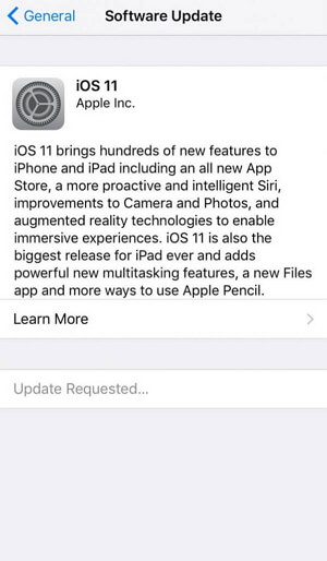 ios update requested