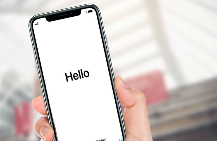 iphone stuck on hello screen