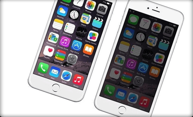 iPhone screen dark