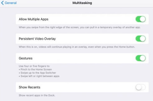 turn off multitasking