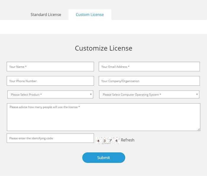 custom license for iMyFone D-Back