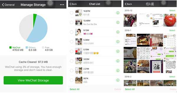 how to delete wechat photo