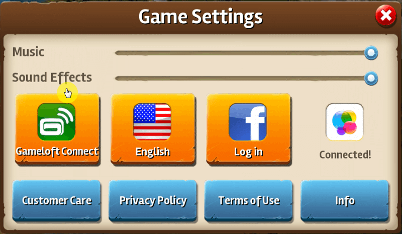 ipad game settings