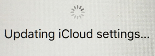 How can I Get Rid of iPhone/iPad Stuck on Updating iCloud Settings