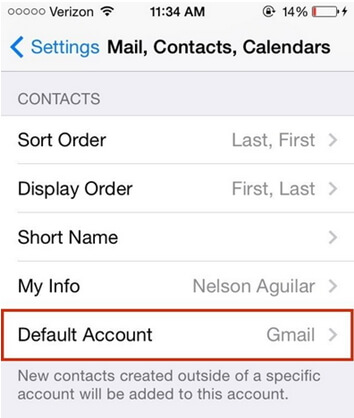 set-gmail-as-default-account