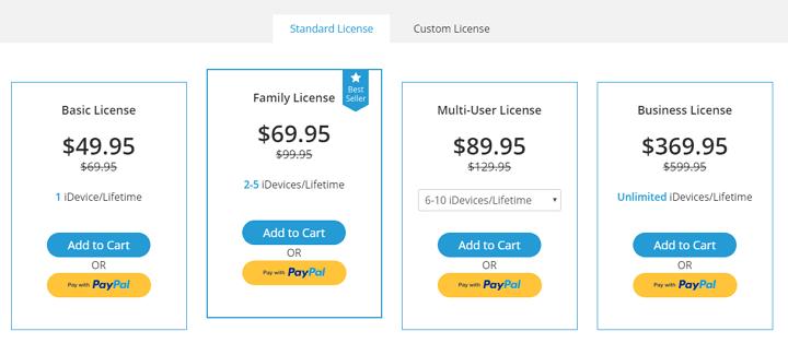 standard license for iMyFone D-Back