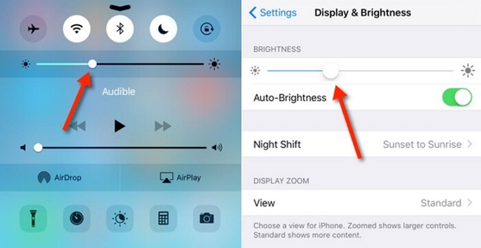 Turn Brightness Down to Stop iPhone Screen Shaking