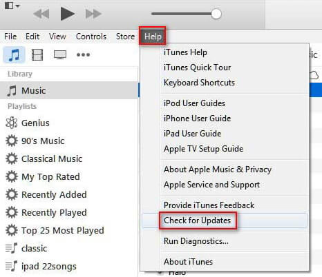 Update iTunes in Windows