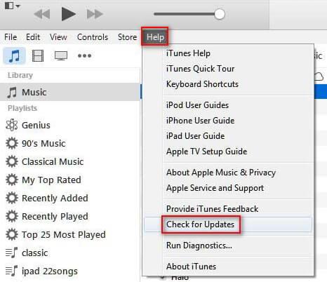 Update iTunes in Windows