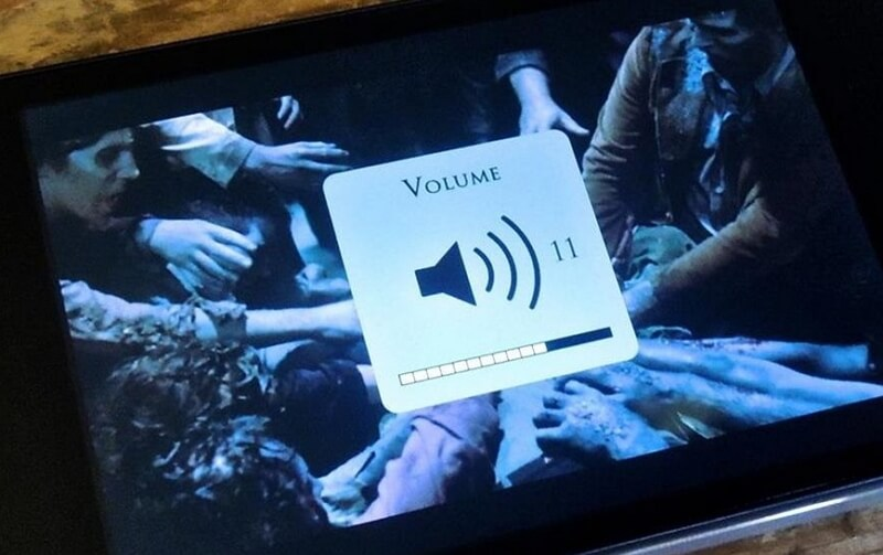 volume up during using app