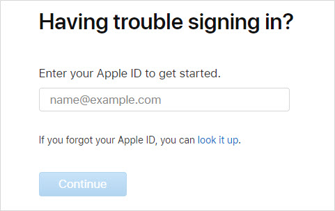 find apple id password