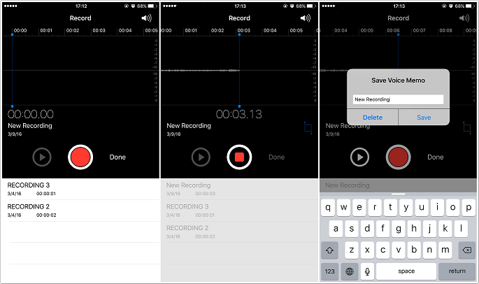 how to record voice memos on iphone