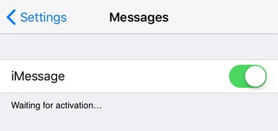 imessage waiting for activation