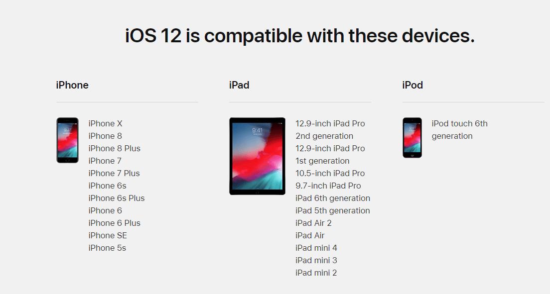 ios 12 device