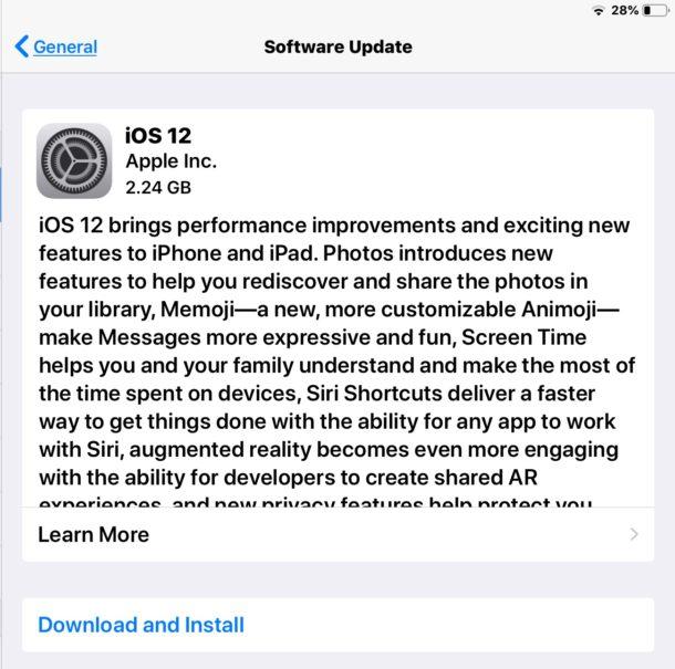 update software ipad