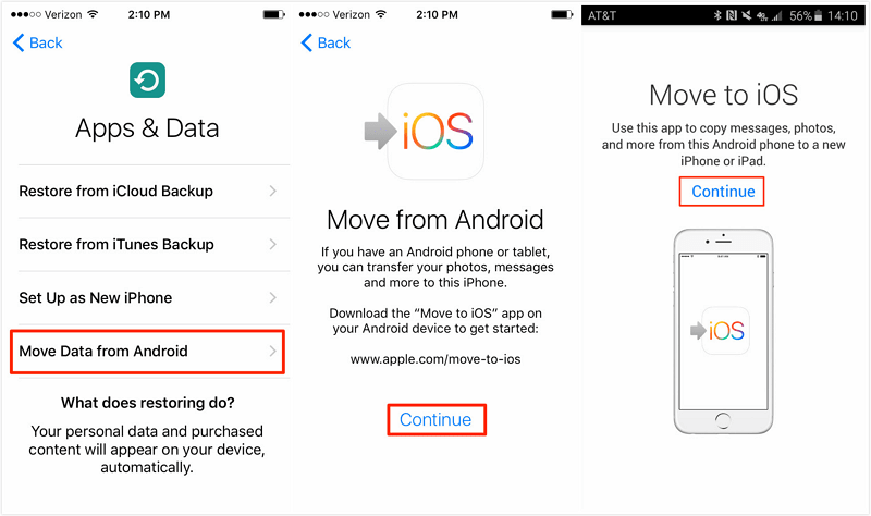 move to ios application