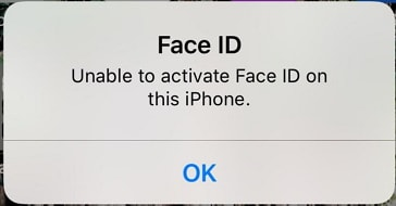 unable to activate face ID