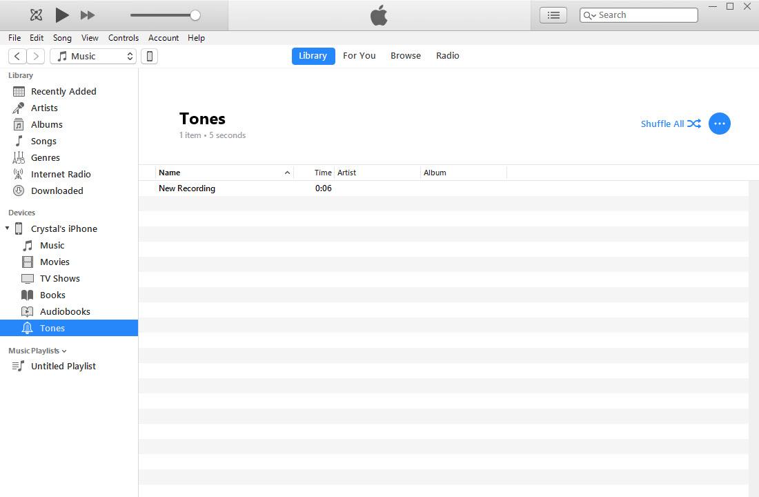 voice memo add to itunes tones