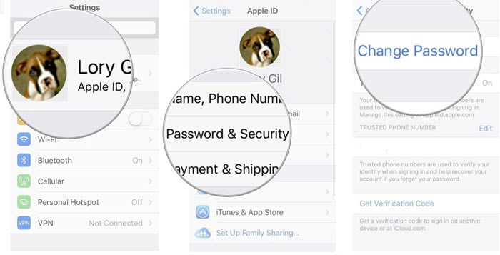 change-apple-id-password-on-iphone
