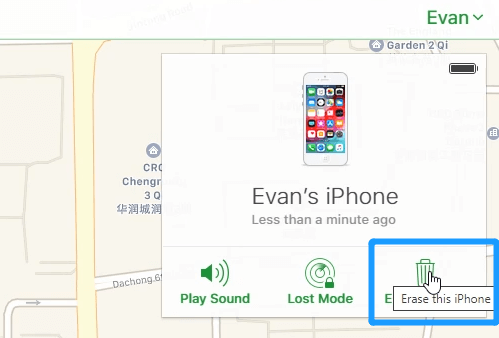 erase disabled iphone on iCloud