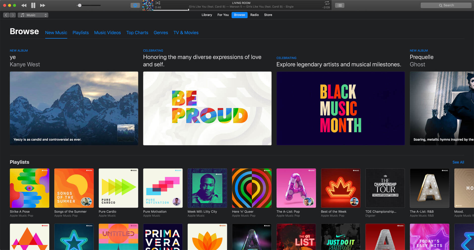 itunes dark mode mac