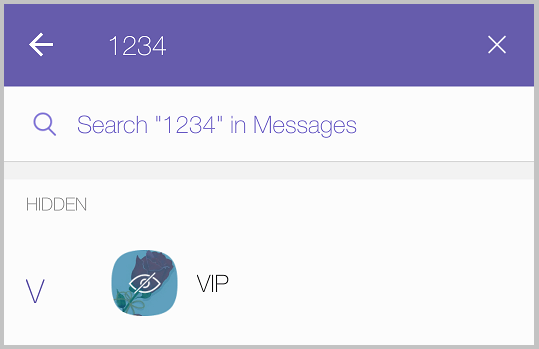 open hidden Viber chat