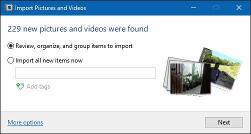 windows 10 import files