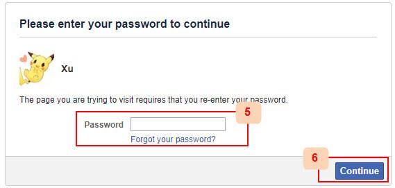 deactivate facebook account turtorial step 3
